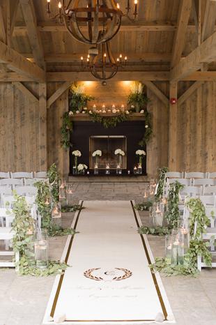 Countryside wedding ceremony decor at Langdon Hall