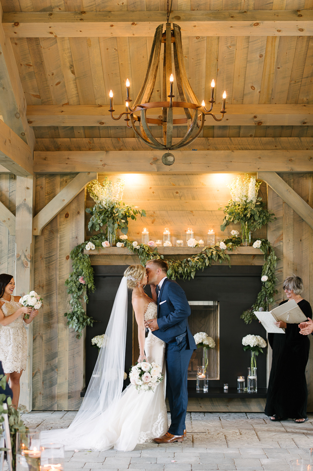You may kiss the bride! Romantic countryside wedding