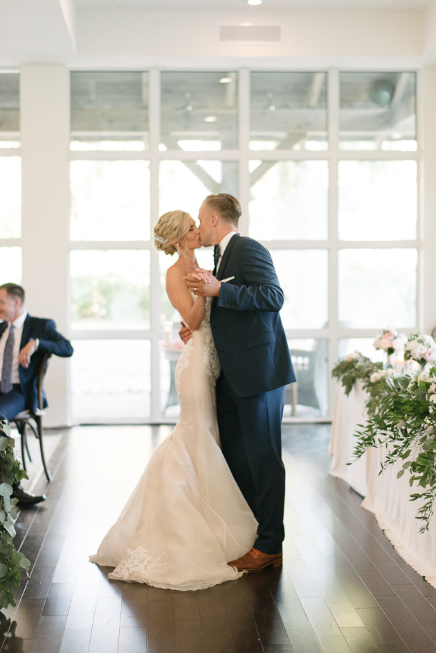 Bride and groom's first dance at their Langdon hall wedding