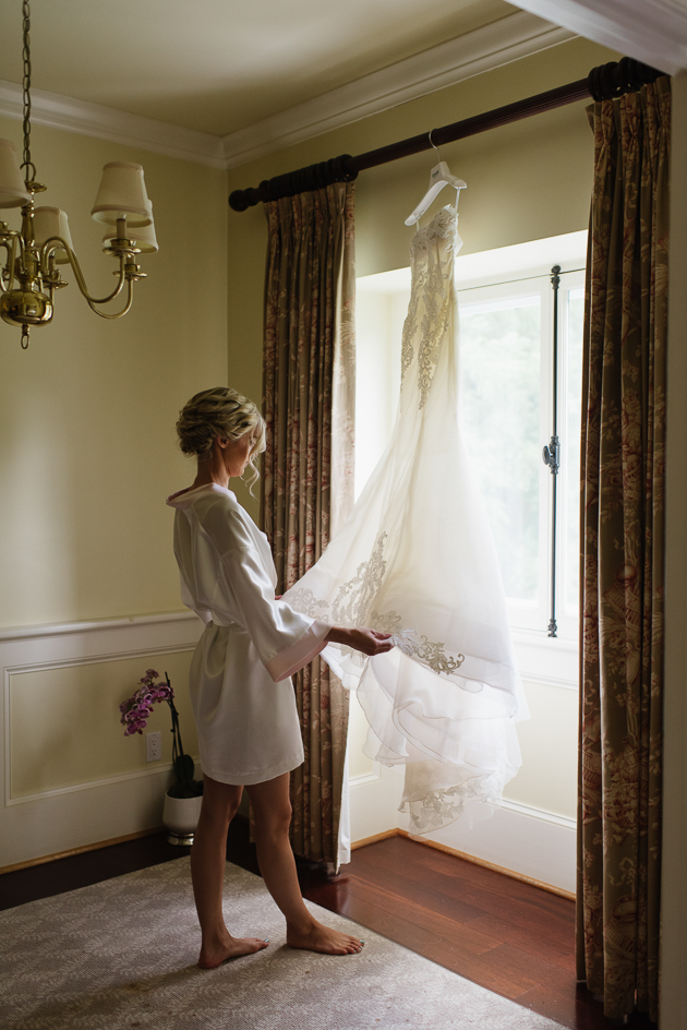Our beautiful bride on the morning of her Langdon Hall wedding
