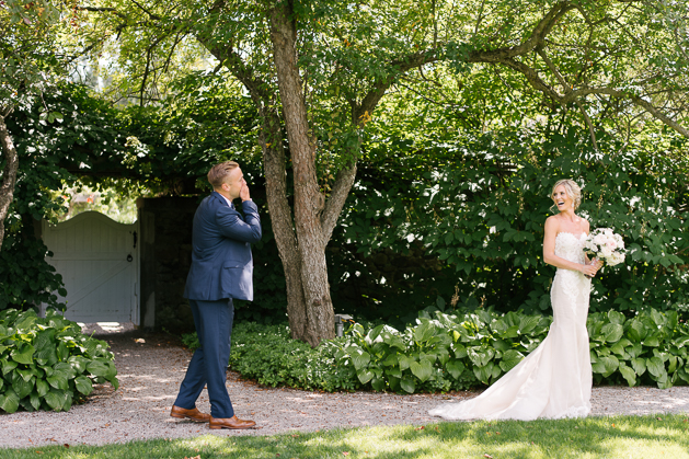 Bride and groom wedding photos at Langdon Hall