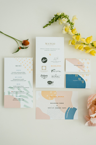 Bright and vibrant wedding invitation set inspiration