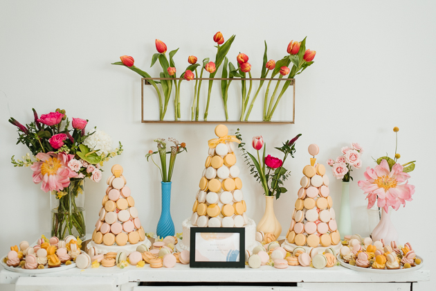 Bright macaroon towers by Butter Avenue