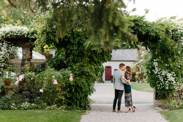 Romantic engagement photos at Spadina Museum