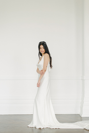 Beautiful Ferre Sposa wedding dress at The Great Hall wedding shoot