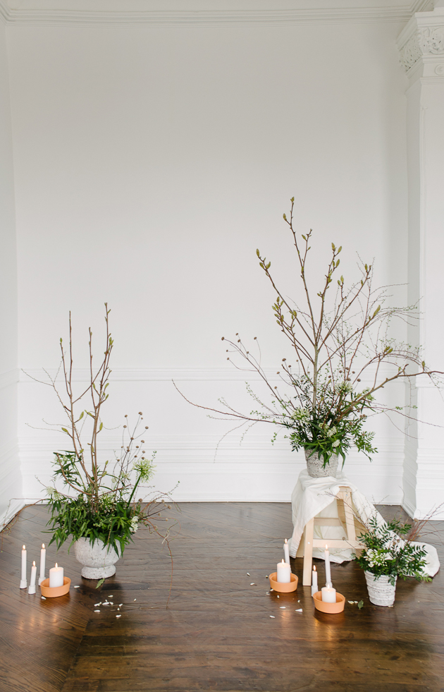Organic and minimal The Great Hall wedding inspiration