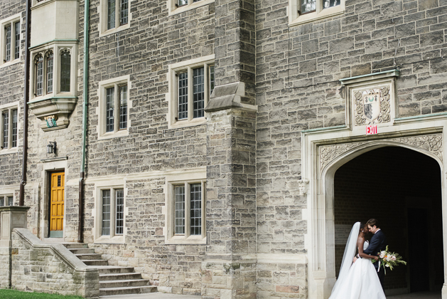 Romantic wedding photos at Trinity College