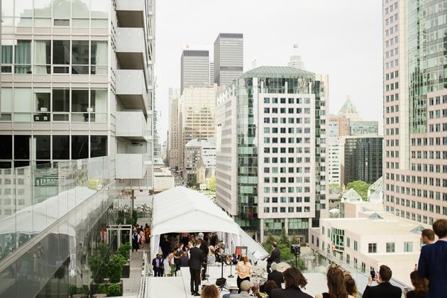 Malaparte rooftop wedding reception