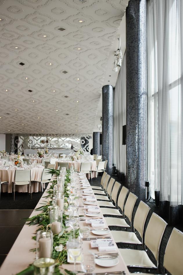 Malaparte wedding reception decor