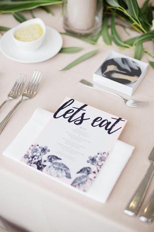 Tropical Malaparte wedding reception decor