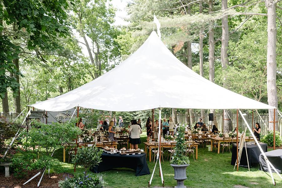 Summer backyard bridal shower in Muskoka