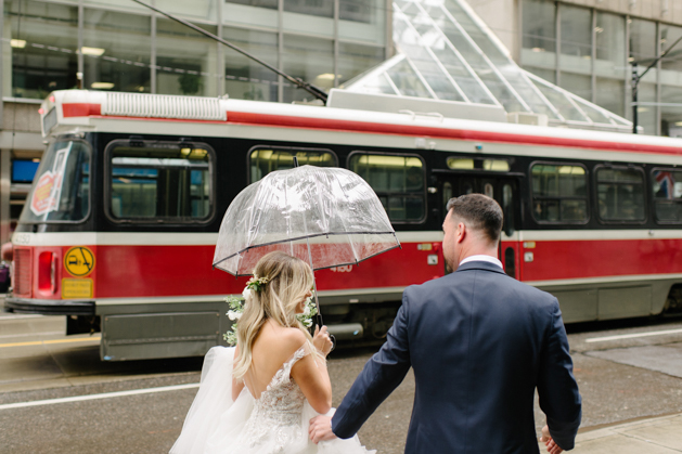 Rainy wedding day photos in Toronto
