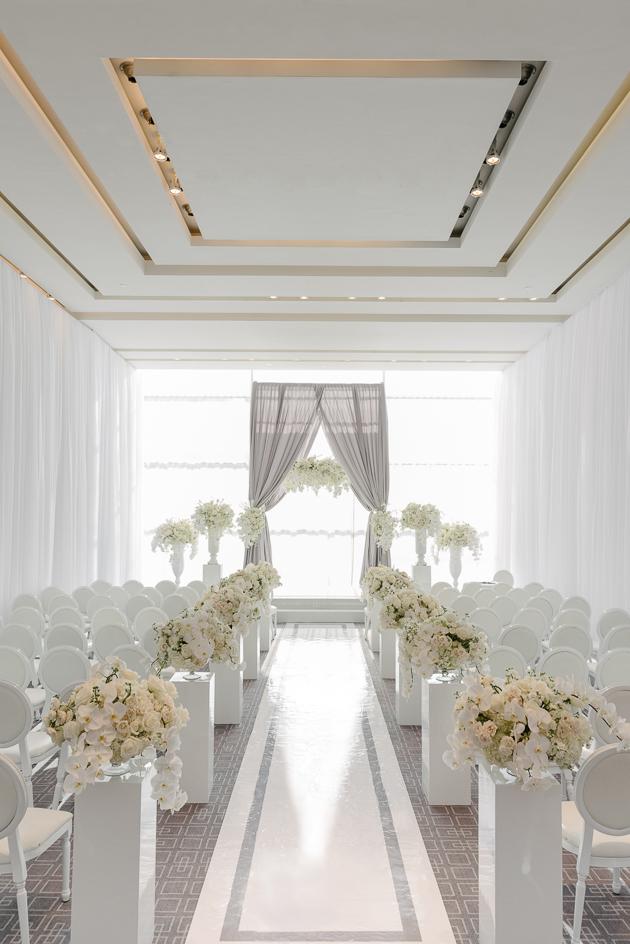 Four Seasons Hotel Toronto wedding ceremony decor photography