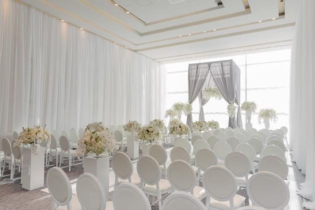 Four Seasons Hotel Toronto Wedding Full of White Orchids