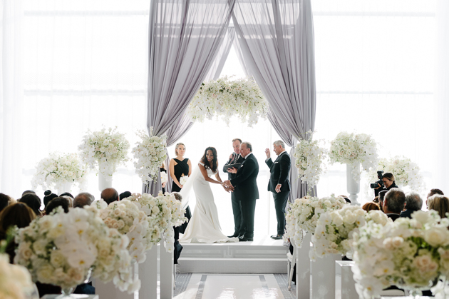 Four Seasons Hotel Toronto wedding ceremony photography