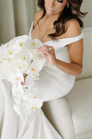 White orchid bride's bouquet