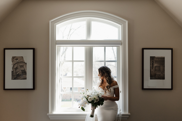 our beautiful bride getting ready on the morning of her wedding