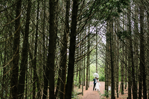 Rainy Kortright Centre wedding photos