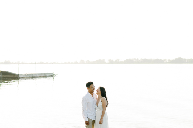 A sun kissed Cherry Beach engagement session in Toronto