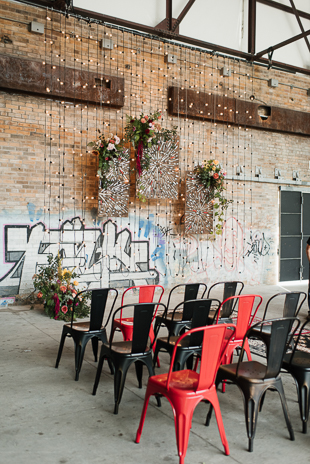 Hip and cool Pop Up Chapel ceremony space in Toronto