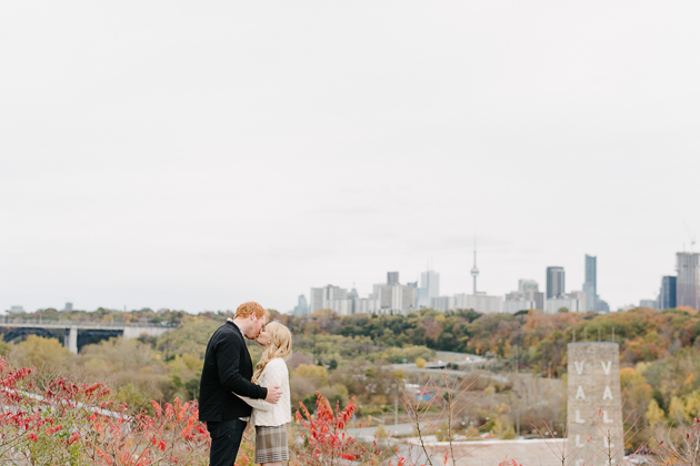 Evergreen Brick Works Fall engagement photos