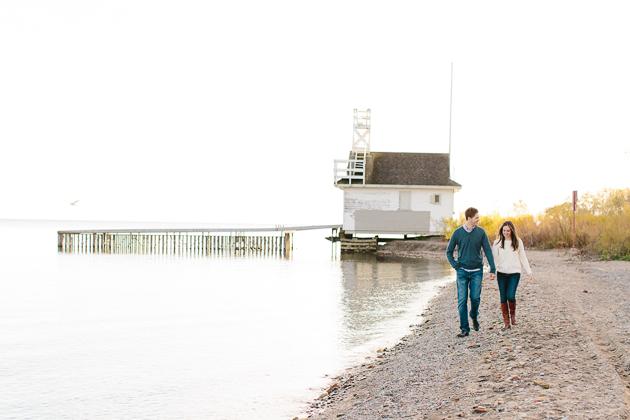 Cherry Beach Fall engagement photos