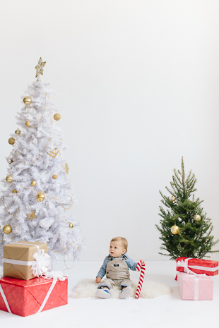 Holiday family photos in the studio in Toronto