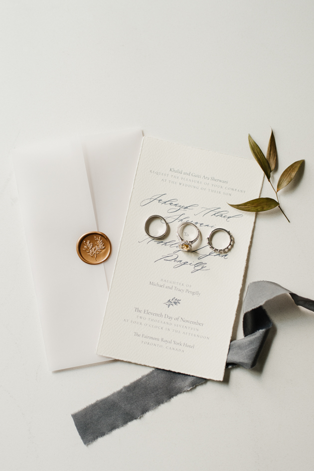 Pretty white and grey wedding details