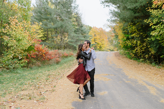 Muskoka Fall engagement photos