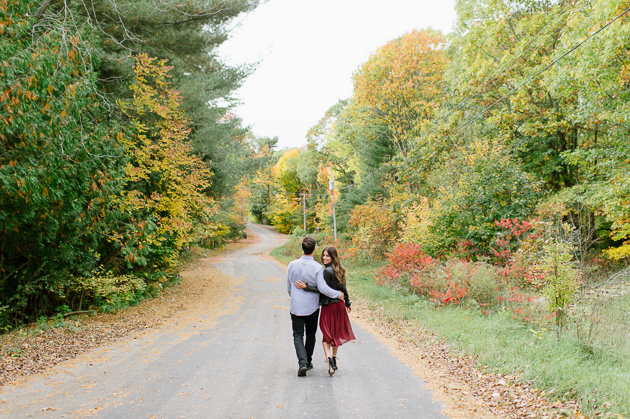 Gorgeous Fall engagement photos in the forest