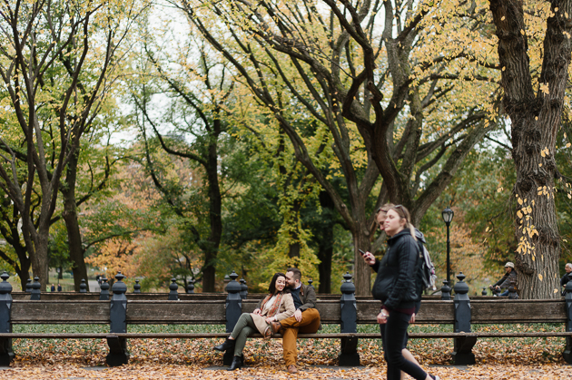 Central Park Fall engagement photos in New York