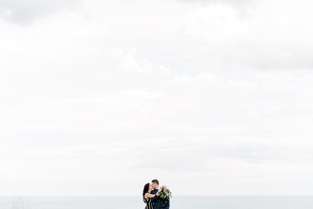 Lake Ontario Fall engagement photos
