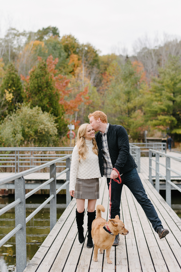 Romantic Evergreen Brickworks Fall engagement photos