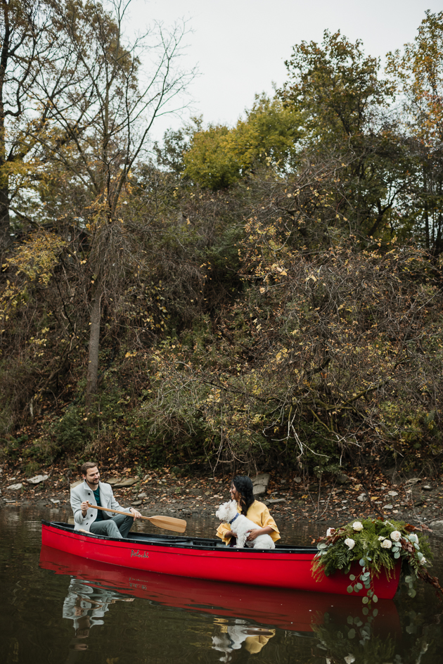 Humber River Fall engagement photos
