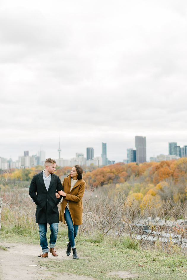 Evergreen Brickworks Fall engagement photos