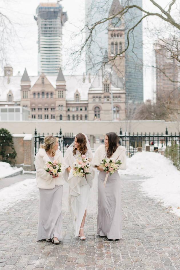 Bridesmaids photo at the Osgoode Hall in Toronto