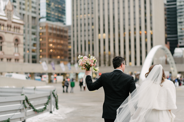 Nathan Phillips Square wedding photos in Toronto