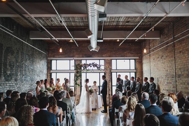 The Burroughes Building wedding ceremony photos
