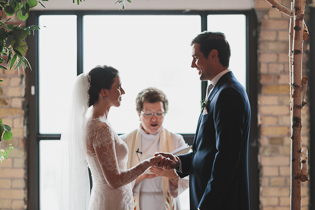 Burroughes Building wedding ceremony photos in Toronto
