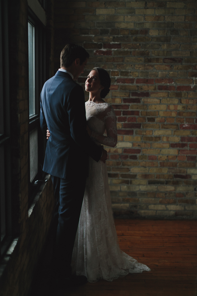 Modern and romantic The Burroughes Building wedding photos in Toronto