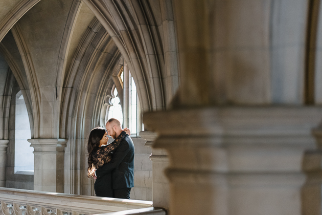 Knox College is one of the unique engagement photo locations in Toronto
