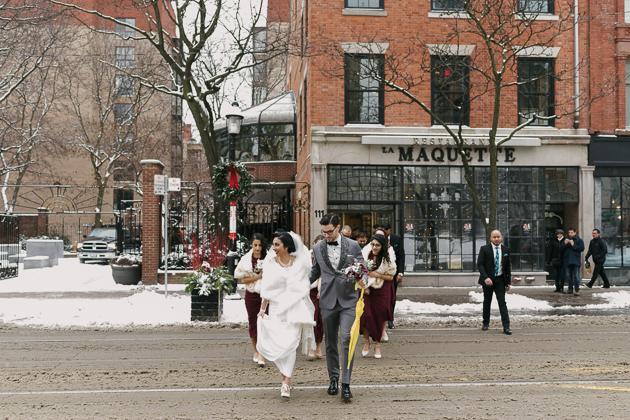 La Maquette wedding photos in winter