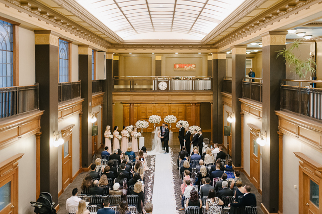 One King West wedding ceremony photos