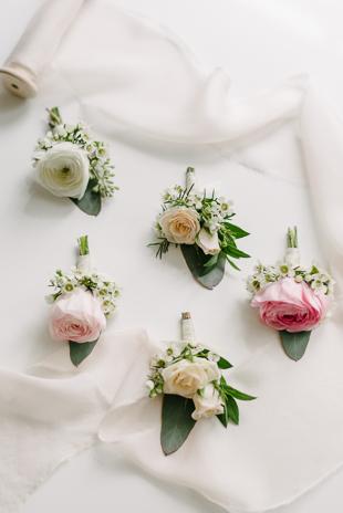 Pretty wedding lay flat photos