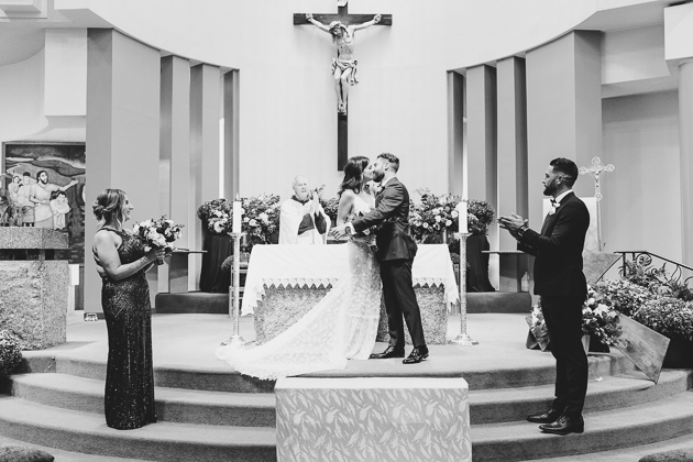 Woodbridge wedding ceremony photos