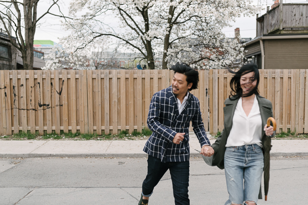 Cute and modern Queen West engagement session