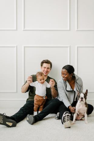 Fun in-studio family photos