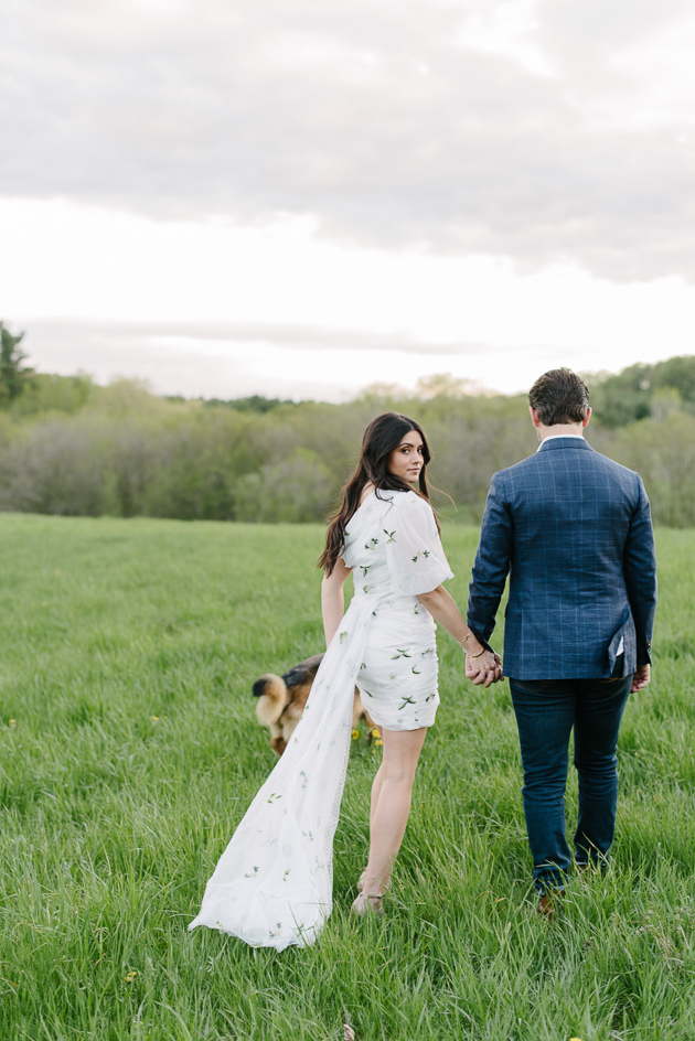 Romantic countryside engagement shoot