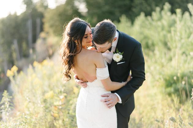 romantic Muskoka wedding