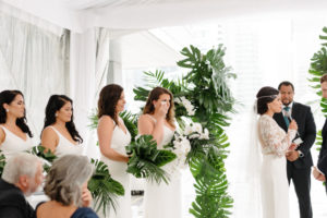 Bridesmaid sheds a tear